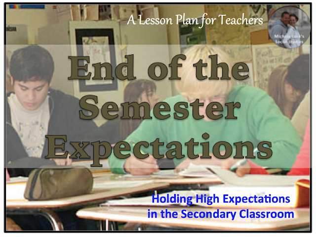 A blog post on keeping high expectations in the secondary classroom at the end of the school semester.