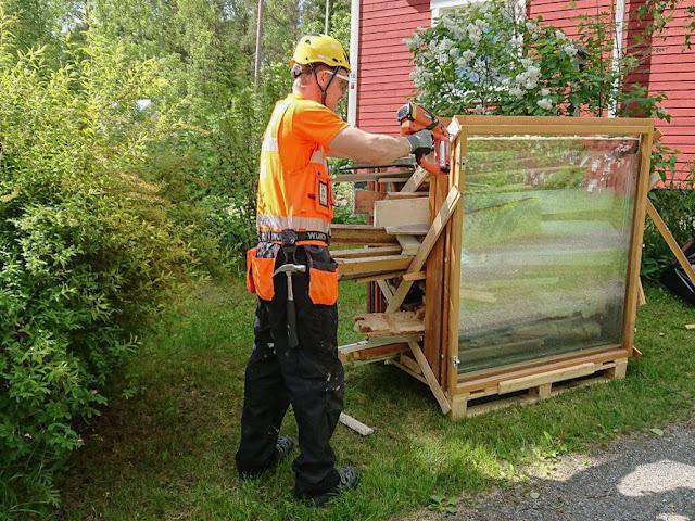vanhojen ikkunoiden kierrätys