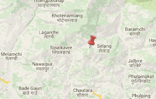 Earthquake epicenter map of Sindhupalchowk, Nepal