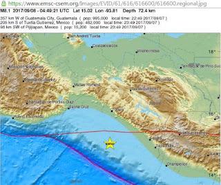 8.2 Mexico's Most Powerful Earthquake in 100 Years Creates Tsunami