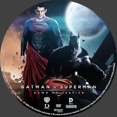 Label Bluray Batman V Superman Dawn Of Justice (Batman Vs Superman A Origem Da Justiça)