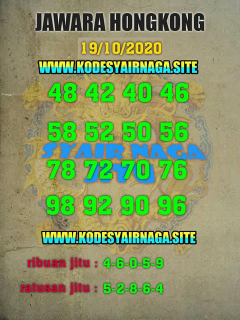 Kode syair Hongkong senin 19 oktober 2020 277