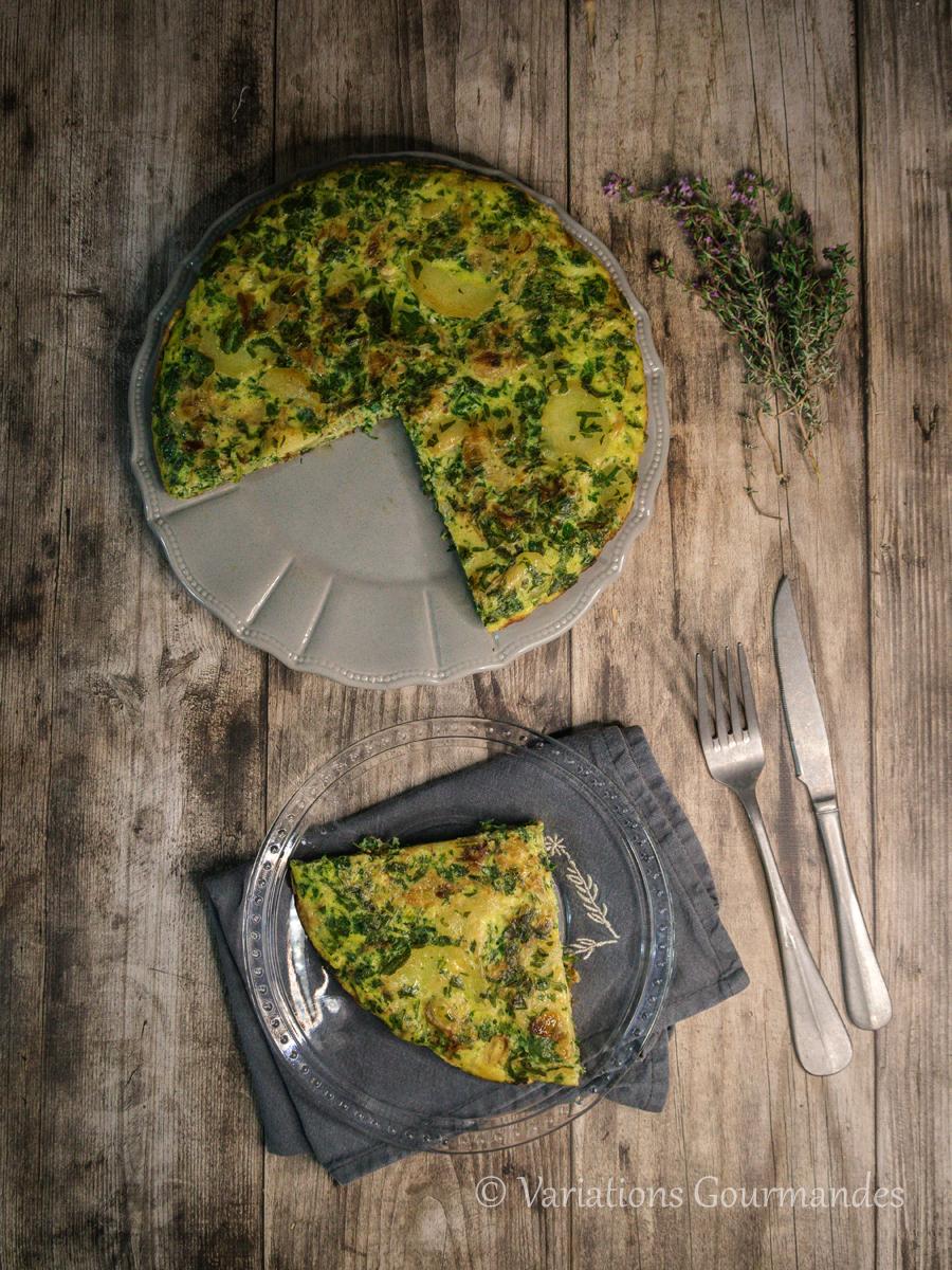 Recette, Variations Gourmandes, omelette, cresson
