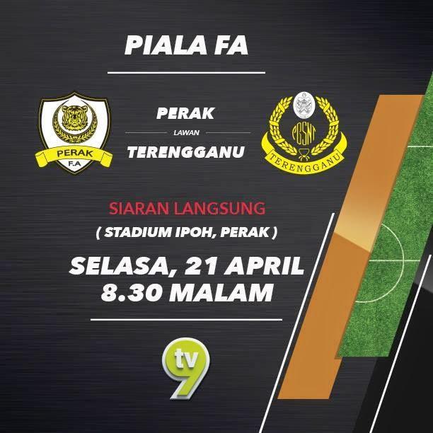 Live streaming Perak Vs Terengganu 21 April 2015