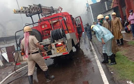 The Carriage Store Of Kharagpur Railway Workshop Caught Fire