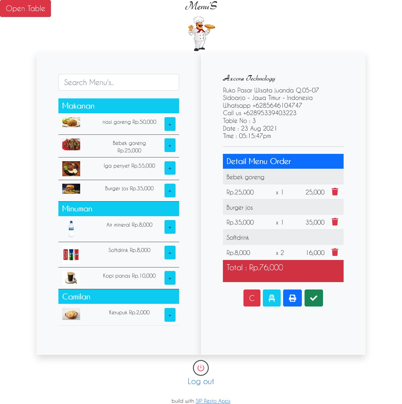 cms restoran aplikasi restoran kasir pos online