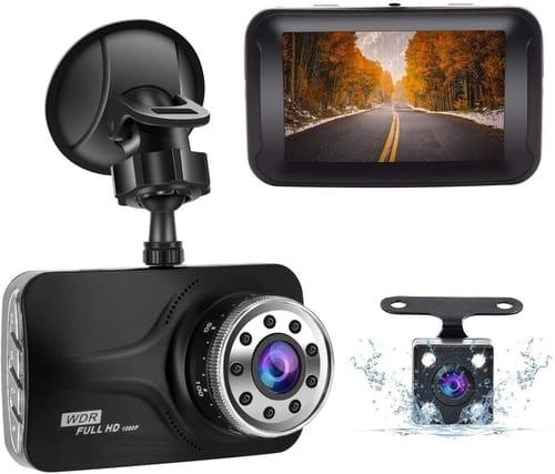 Review GERI Full HD Dual Dash cam Camera for Cars