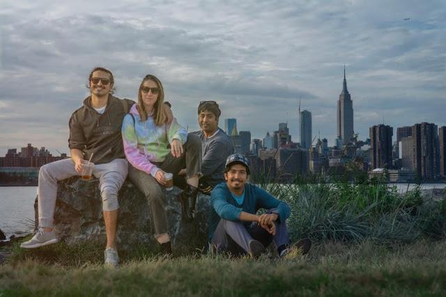 Ammar Farooki in New York with Pakistani musician and YouTuber Mooroo.