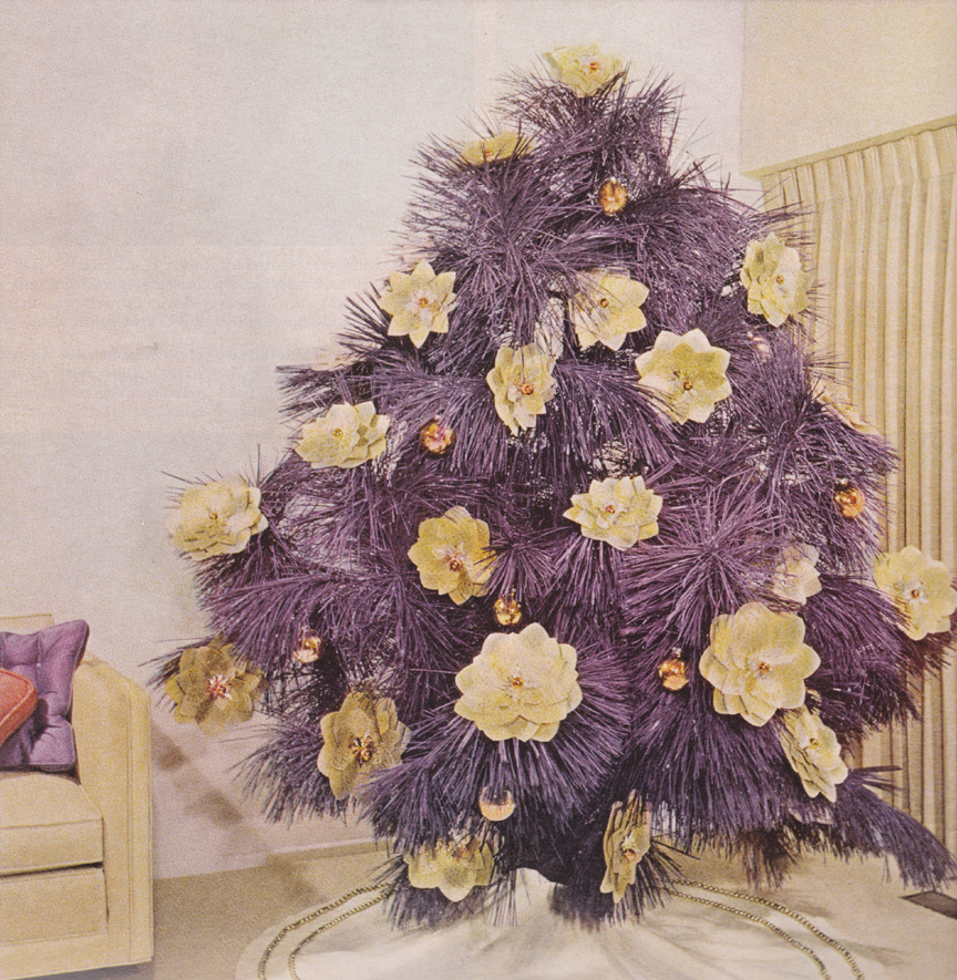 Purple And White Christmas Tree: Yay, It's Another Blog!: Christmas Ideas For 1962