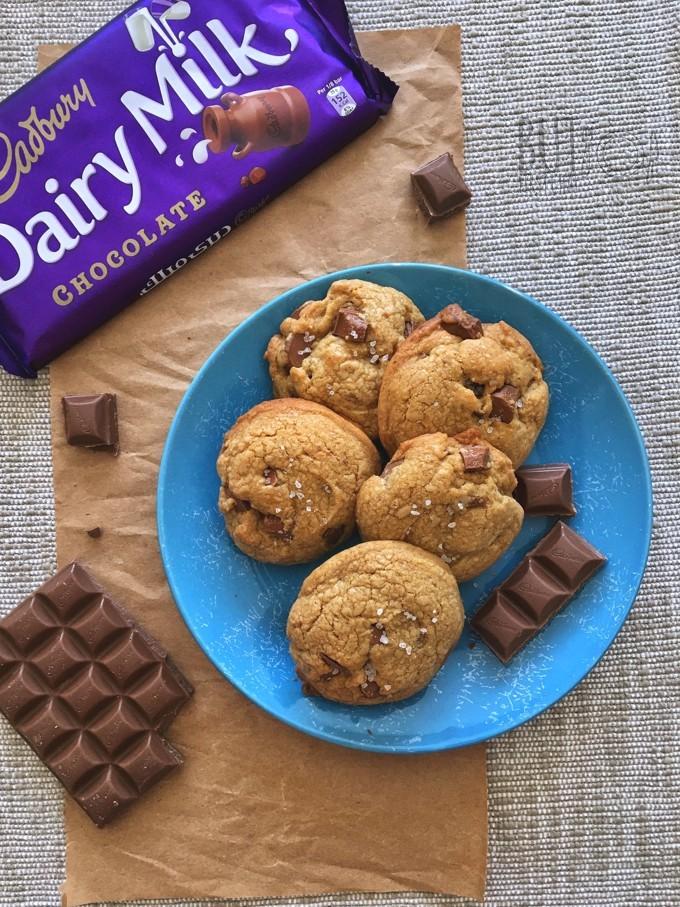 Dairy Milk Chocolate Cookies