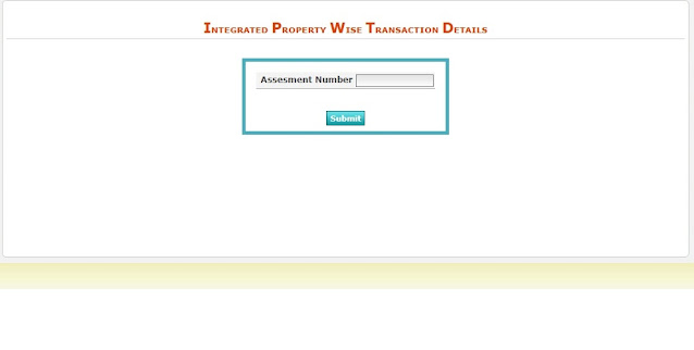 Integrated Property Wise Transaction Details for Urban Properties