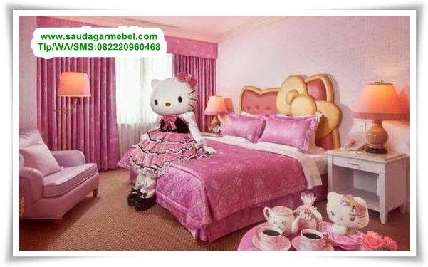 Set Tempat Tidur Anak Perempuan Hello Kitty, Diopan Hello Kitty, Tempat Tidur Hello Kitty, Set Kamar Hello Kitty, Dipan Hello Kitty Murah, Dipan Anak Hello Kitty, Tempat Tidur Anak Hello Kitty