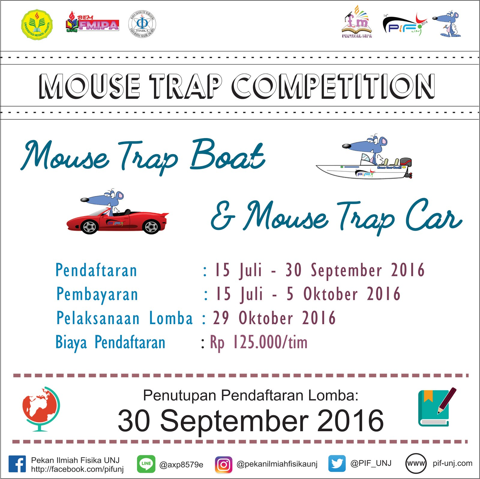 pekan ilmiah fisika universitas negeri jakarta mouse trap boat mtb mouse trap boat mtb