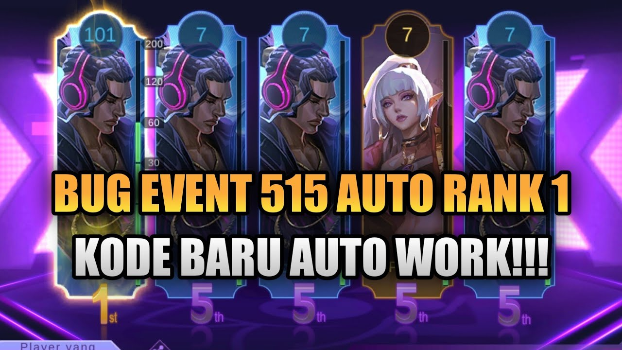 The latest collection of 515 Party Mobile Legends event codes