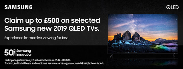 A stunning new TV - and hundreds of pounds in your hand