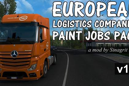 European Logistics Companies Paint Jobs Pack v1.3