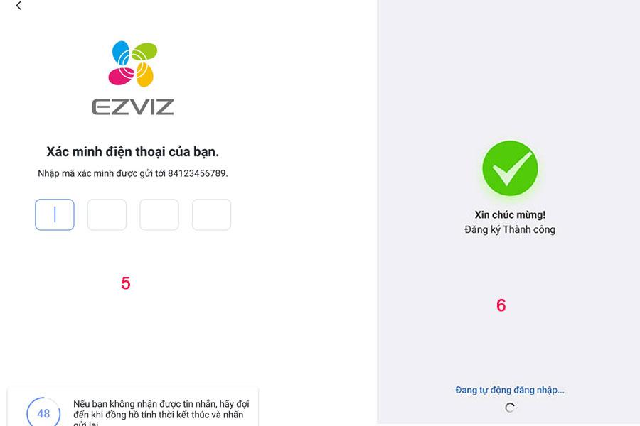 đăng ký tài khoản ezviz 2