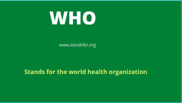 Who-World health organization