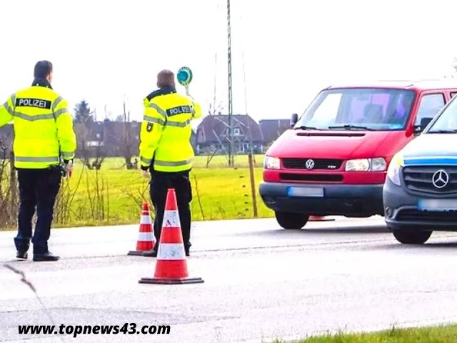 Schleswig-Holstein Germany Hamburg Police Checking All tourists