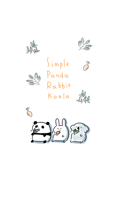 simple Panda Rabbit Koala