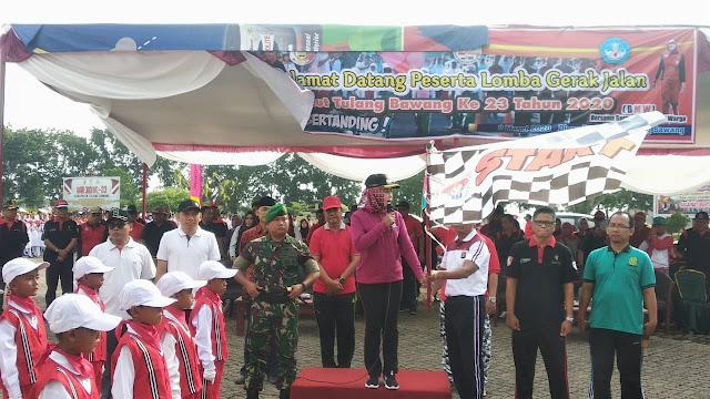 Meriahkan Hut Kabupaten Tulang Bawang Ke 23 Dinas Pendidikan Gelar Lomba Gerak Jalan Suara Intelektual