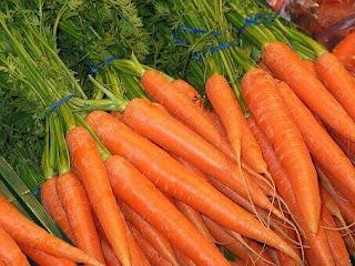 Carrots, fruits, vegetables