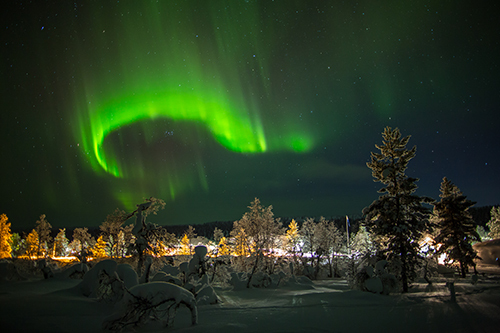Three famous aurora views