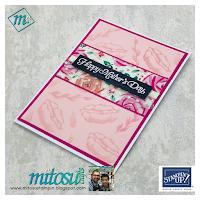 Garden Impressions Designer Series Paper #simplestamping Sunday tutorial handmade by Mitosu Crafts, shop online 24/7