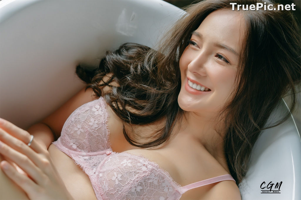 Image Thailand Model - Rossarin Klinhom - Beautiful Girl and Pink Lingerie - TruePic.net - Picture-7