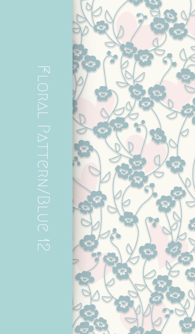 Floral Pattern[pansy]/Blue 12