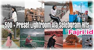 500+ Preset Lightroom Terbaik Ala Selebgram Hits XMP