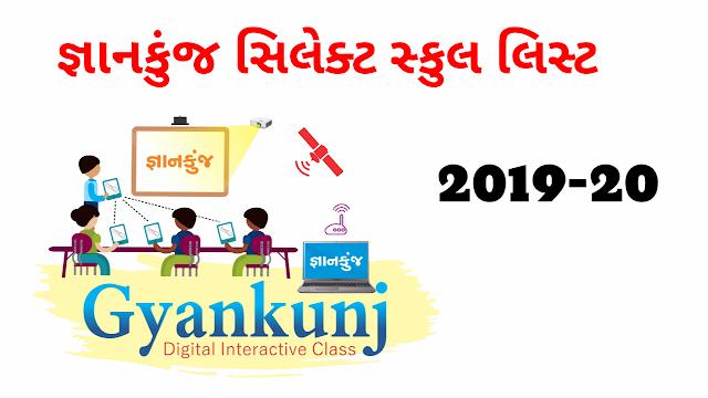 GyanKunj Project  Selected School List 2019-20