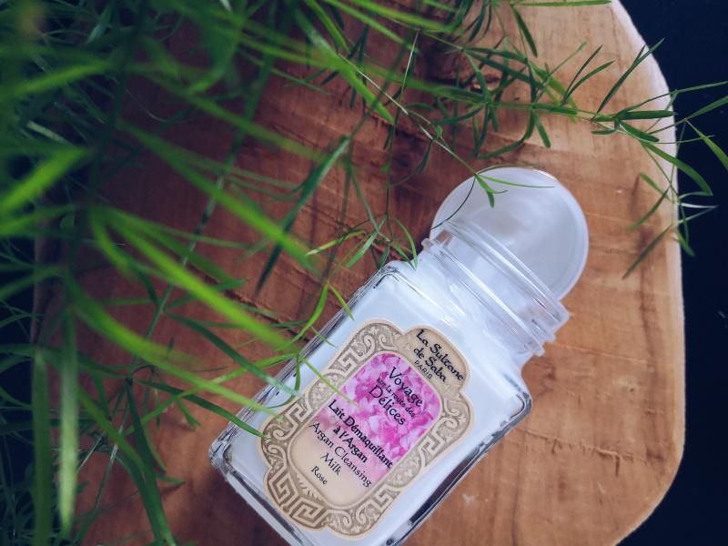 review du lait démaquillant rose à l'huile argan