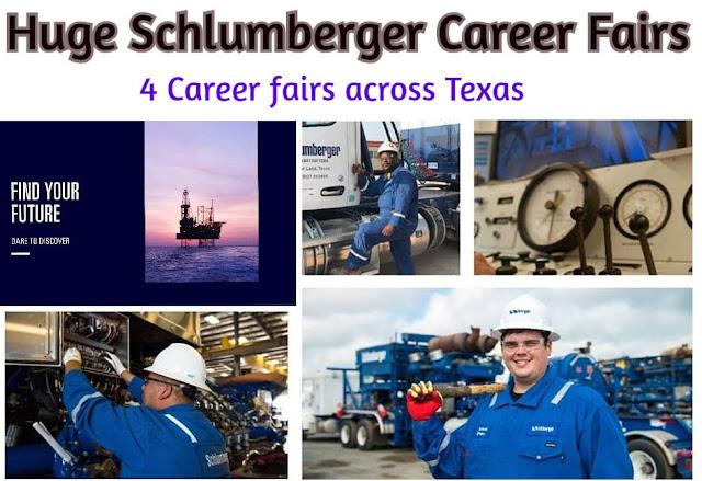 Huge Schlumberger Hiring multiple positions: 4 career fairs across Texas in September 2019.