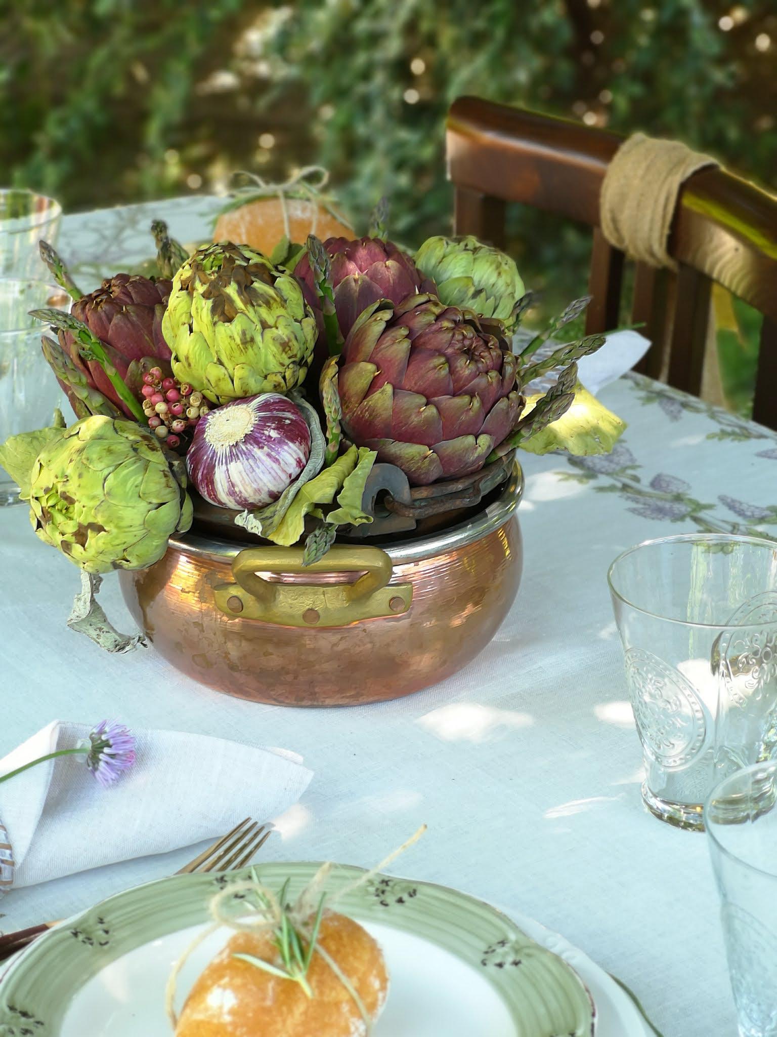 centrotavola con verdure