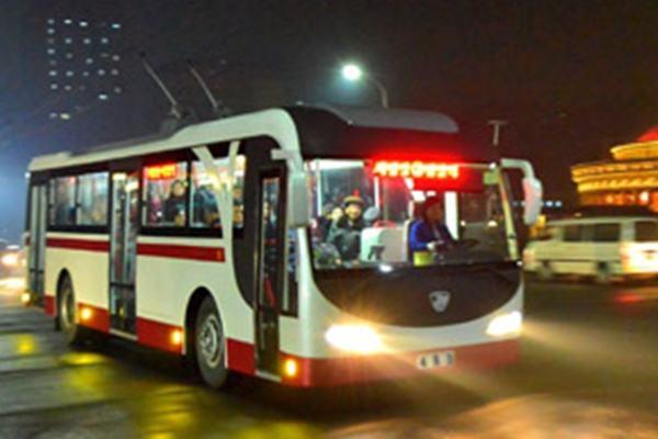 (1) New-type Trolley Bus, Pyongyang
