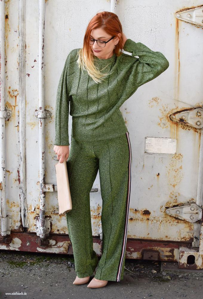 Grüner Glitzeranzug von H&M, diese Hose wollen jetzt alle