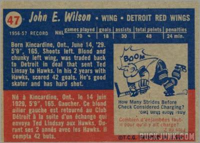 1957-58 Topps #47 - Johnny Wilson