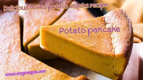 Delicious boiled potato snacks recipe - Potato Pudding
