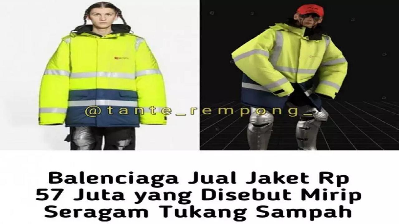 Heboh! Jaket Balenciaga Dibandrol Rp58 Juta, Netizen: Modelnya Kaya Jas Hujan