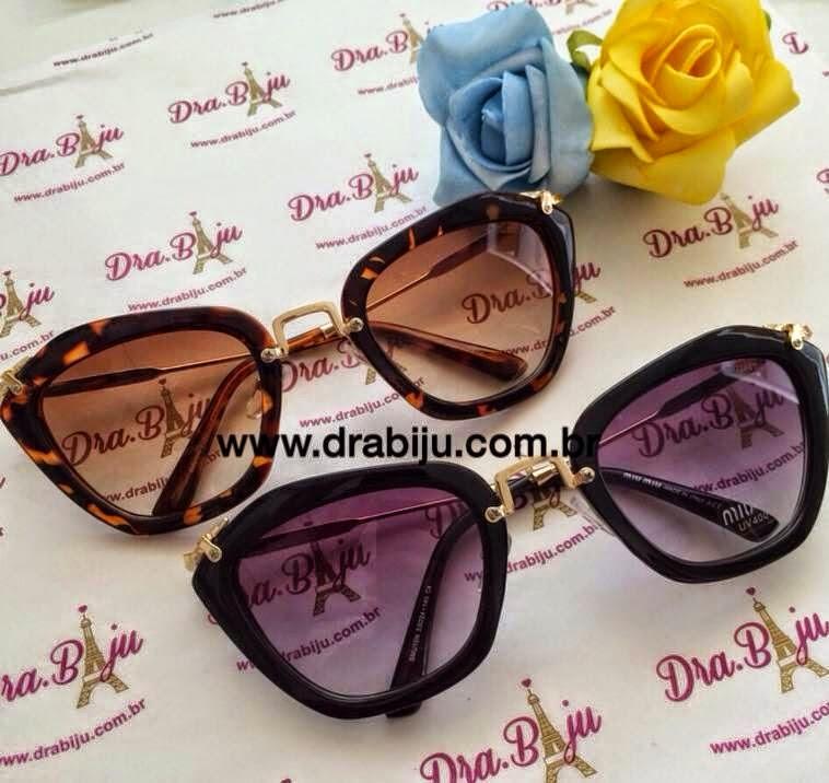 f4cd2d7a9cddc Achei óculos bem legais na loja Dra. Biju. Fiquei pirada nessa réplica do  óculos MIU MIU. Muito lindo
