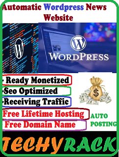 Automatic wordpress news website