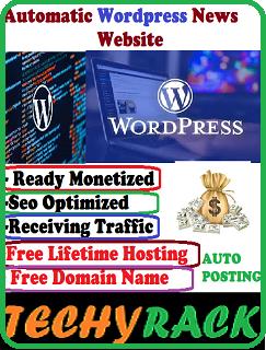 Automatic Wordpress News Website (Ready Monetized)