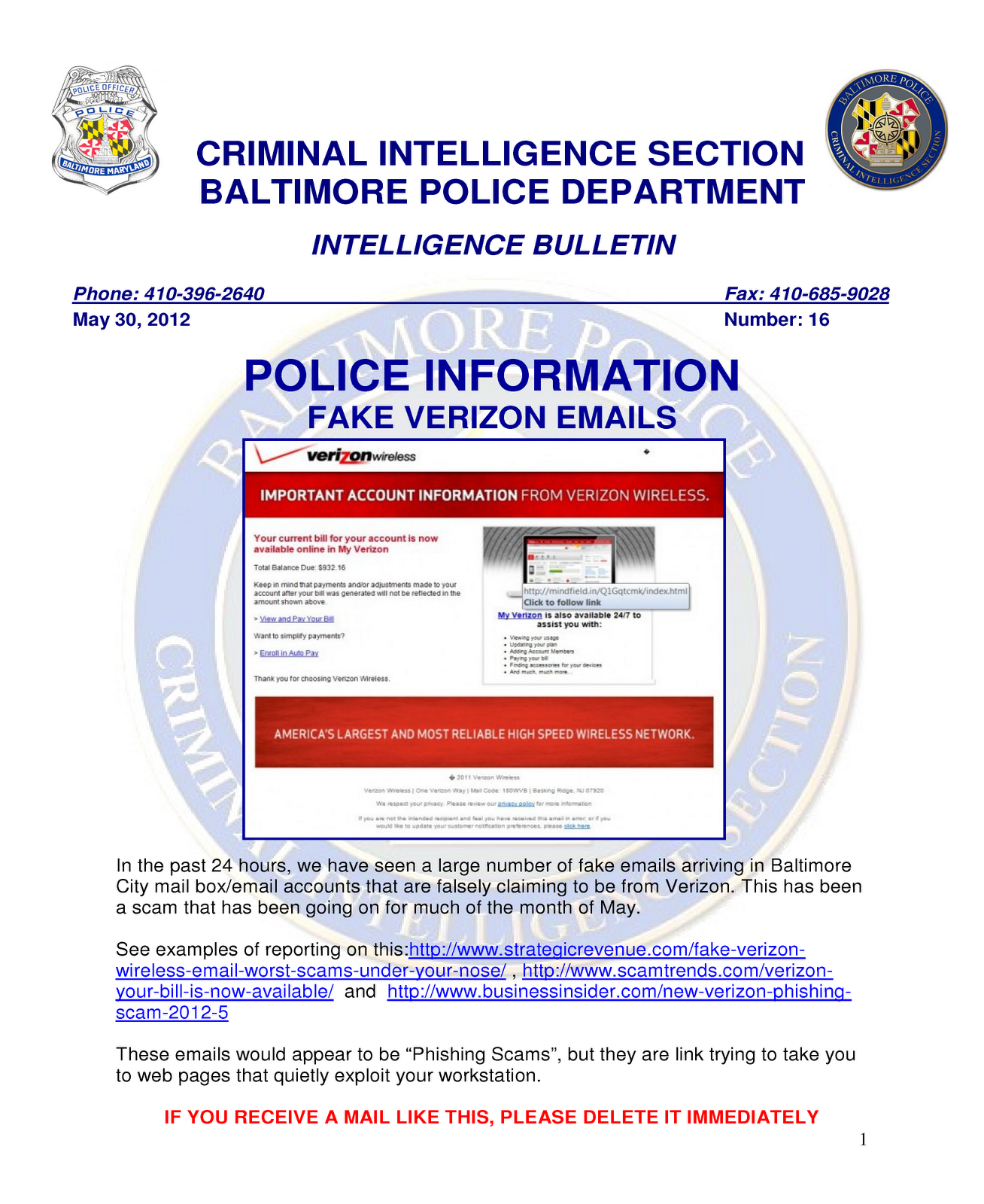 West Chester Technolgy Blog: Verizon Email Scam Confirmed