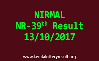 NIRMAL Lottery NR 39 Results 13-10-2017