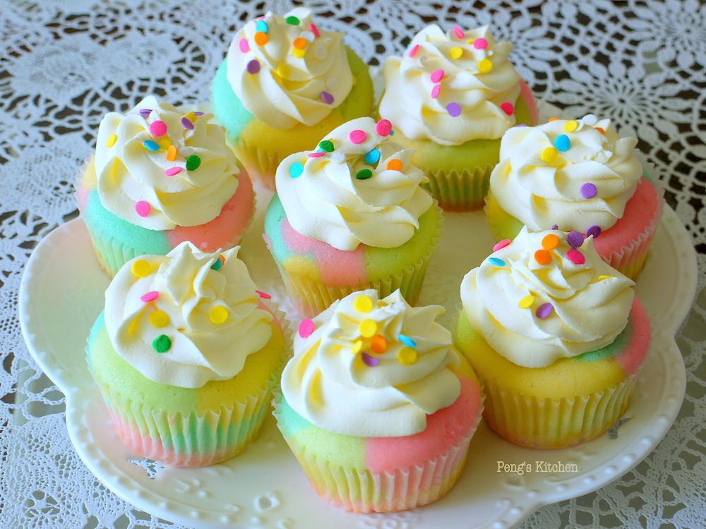 Peng S Kitchen Marble Rainbow Cupcakes
