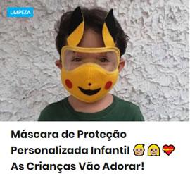 Máscara de Proteção Personalizada Infantil 🧒🏼👩🏼💝 As Crianças Vão Adorar!