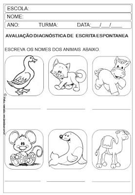 1º ano, Avaliação diagnóstica, lingua portuguesa, matematica,