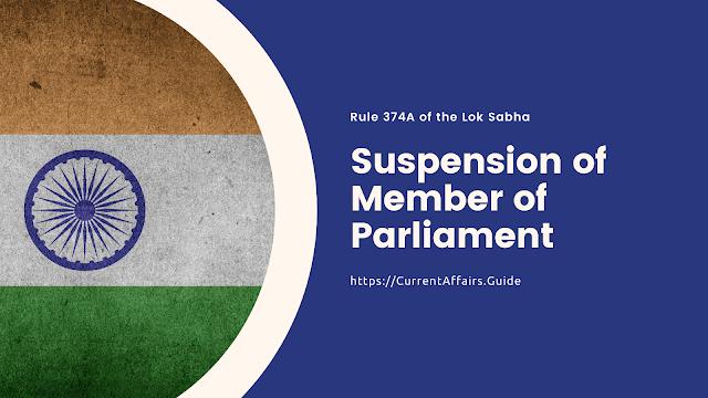 Suspension of Member of Parliament
