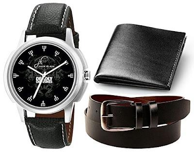 Combo Of Men's Watch, Belt & Wallet, watch belt and wallet